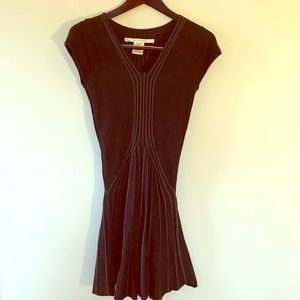 Light sweater fabric flare mini dress